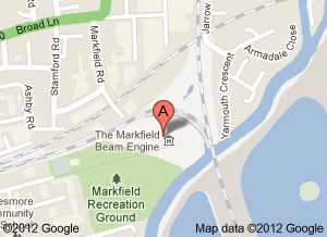 Markfield Park map